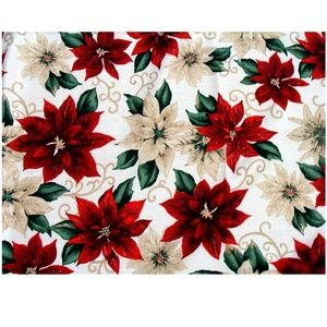 Other - Nice poinsettia Christmas tablecloth holiday linen